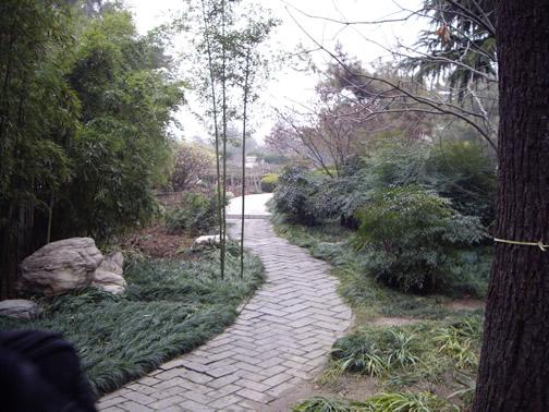 The garden at the Wild Goose Pagoda in Xi'an