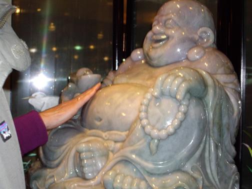 Jade Buddha belly